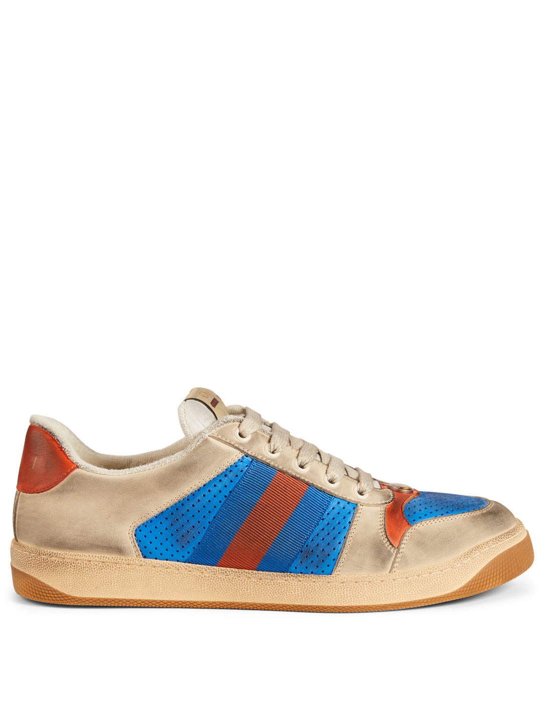 GUCCI Screener Leather Sneakers Men's Blue