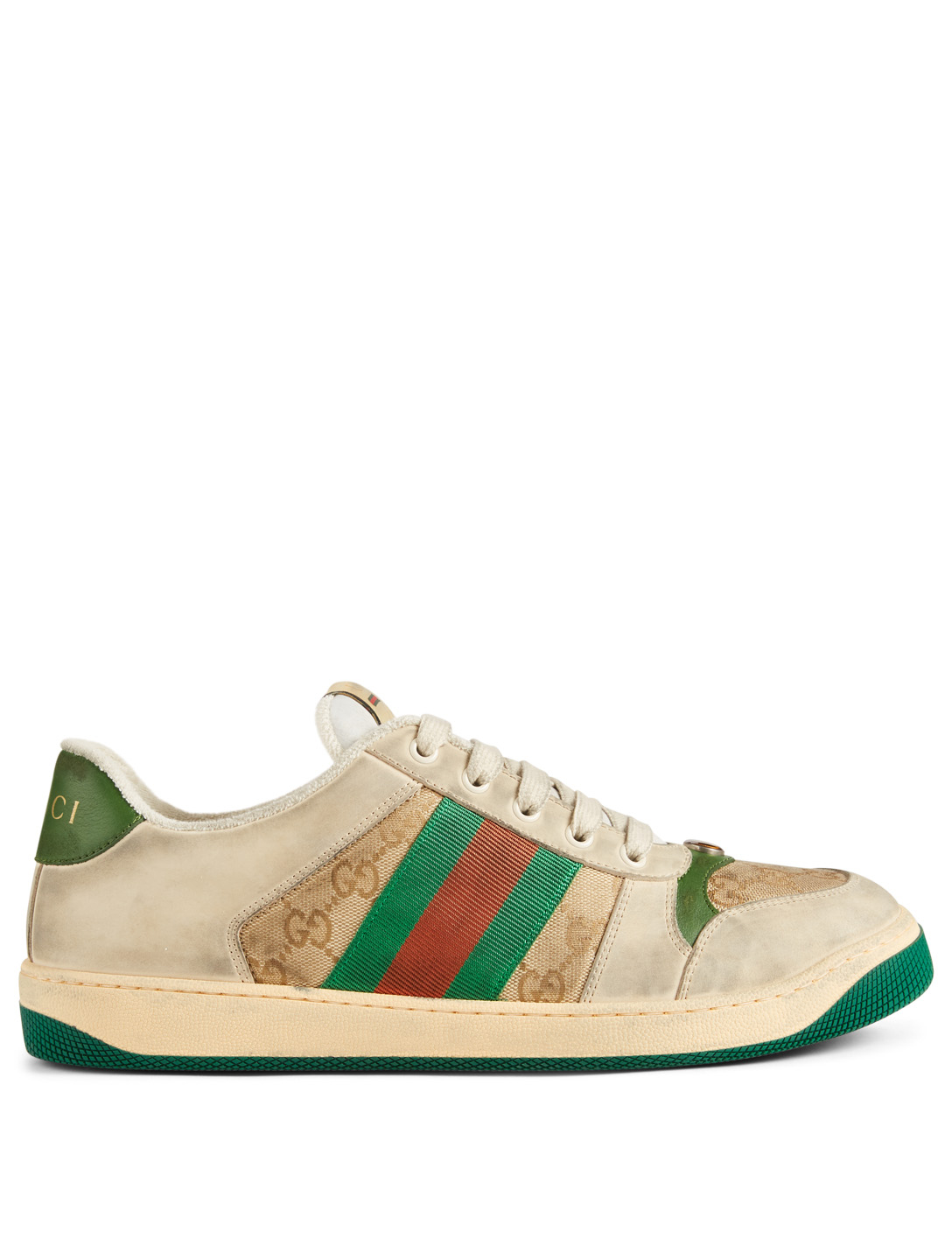 GUCCI Screener GG Canvas And Leather Sneakers Men's Neutral