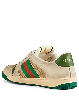 GUCCI Screener GG Canvas And Leather Sneakers Designers Neutral