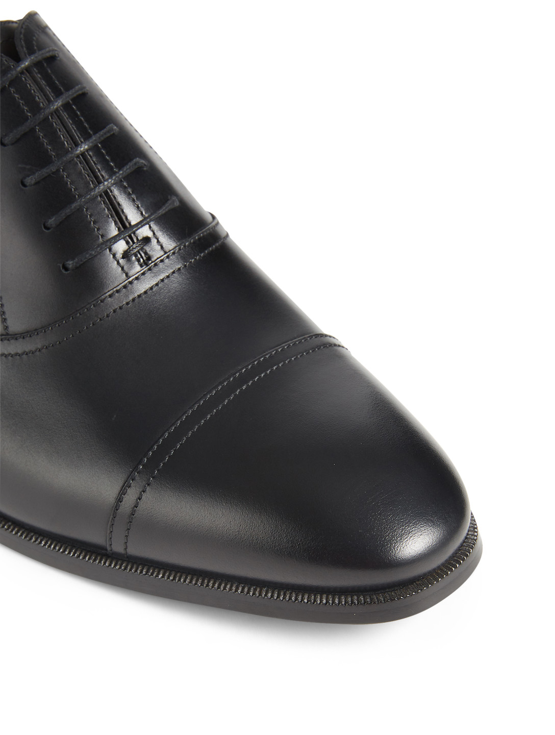 GUCCI Leather Derby Shoes Designers Black