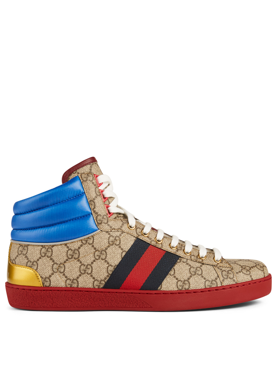 29843d6b8f7 GUCCI Ace GG Supreme High-Top Sneakers