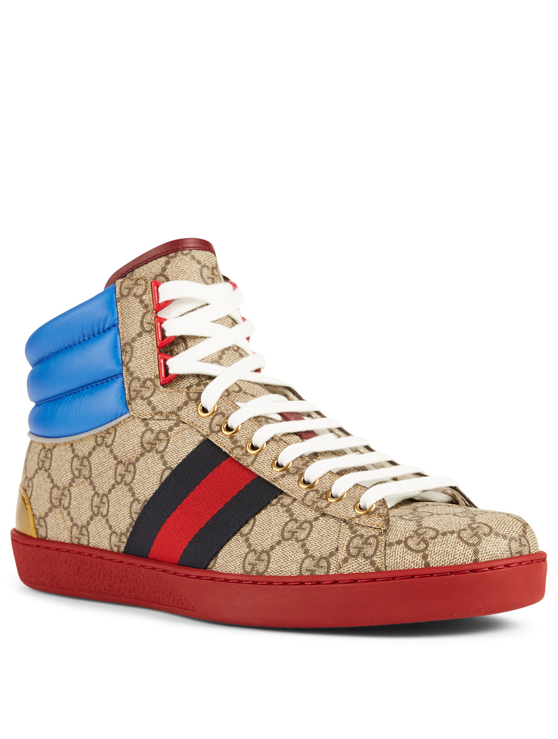 217c1d4eb3c ... GUCCI Ace GG Supreme High-Top Sneakers Designers Neutral ...