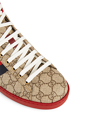 GUCCI Ace GG Supreme High-Top Sneakers Designers Neutral