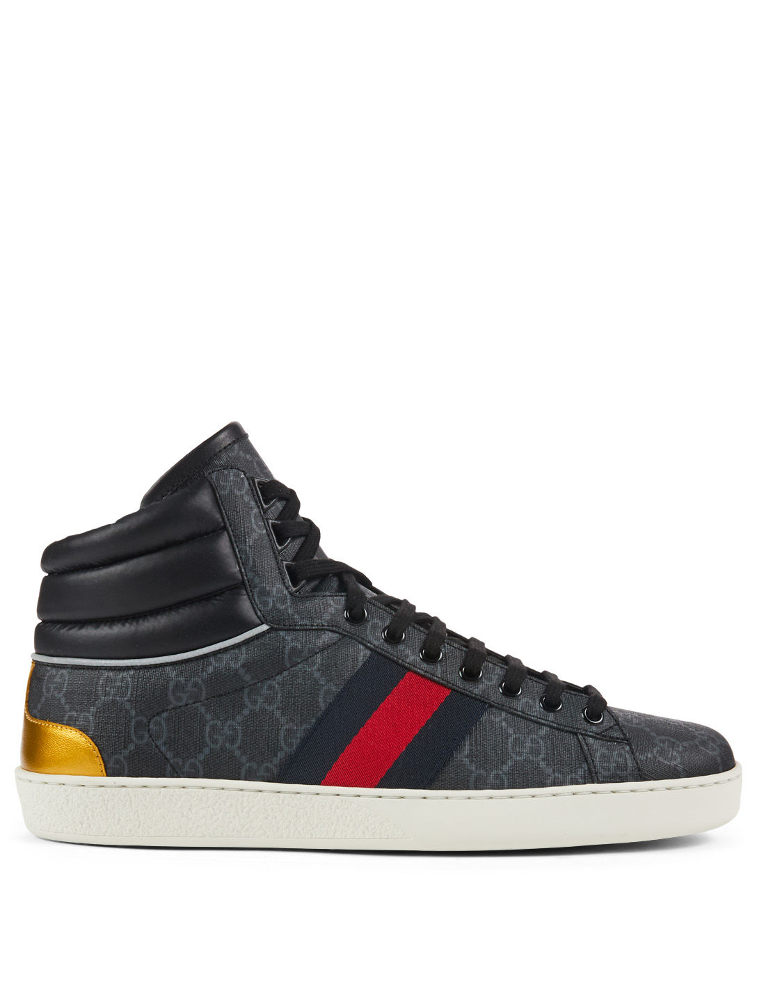 72c5233a222a4 GUCCI Ace GG Supreme Canvas High-Top Sneakers
