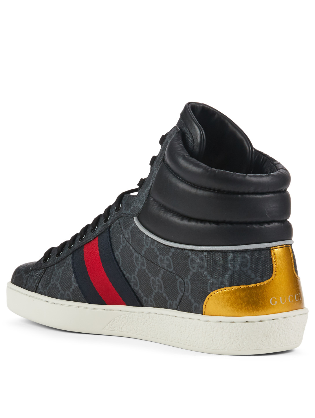 949c3a976d88f ... GUCCI Ace GG Supreme Canvas High-Top Sneakers Designers Black ...