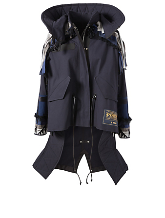 SACAI Sacai x Pendleton Oxford Embroidered Coat Designers Blue