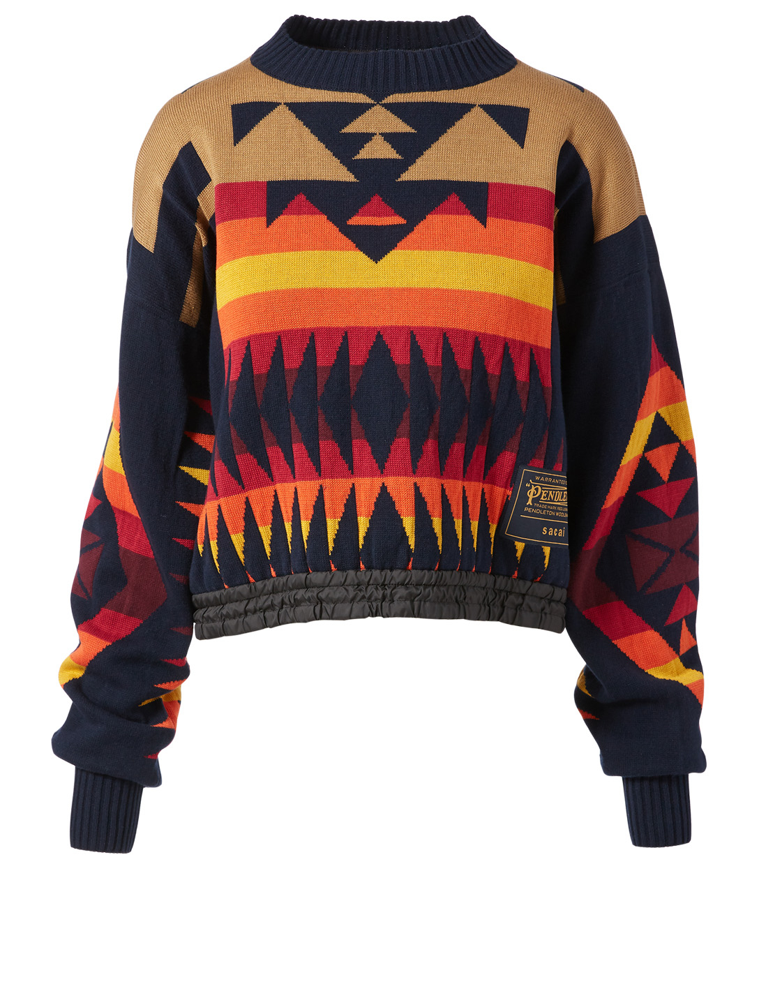 SACAI Sacai x Pendleton Printed Sweater Women's Blue