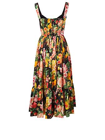 DOLCE & GABBANA Pleated Dress In Floral Print Women's Multi