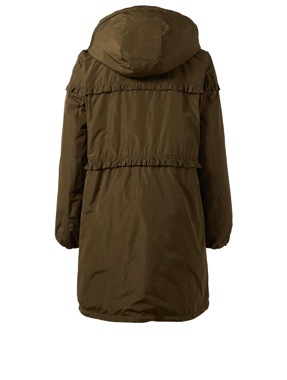 39ba2bb5d261 MONCLER Luxembourg Jacket With Ruffle Trim   Holt Renfrew