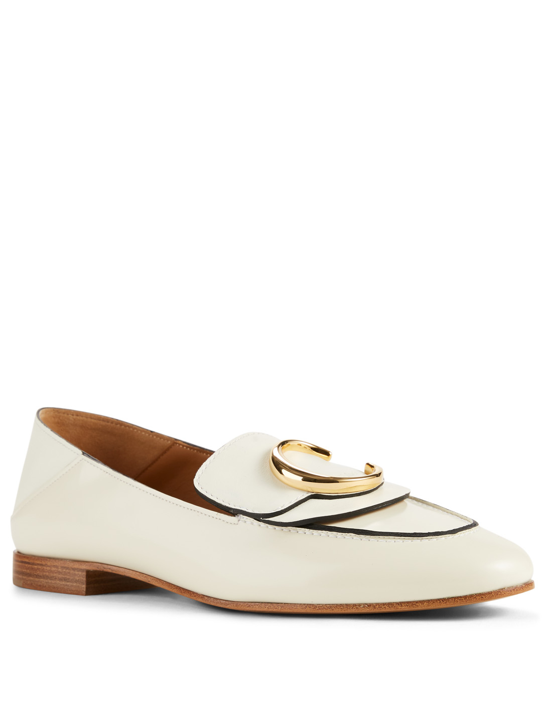 CHLOÉ Chloé Leather Loafers Women's White