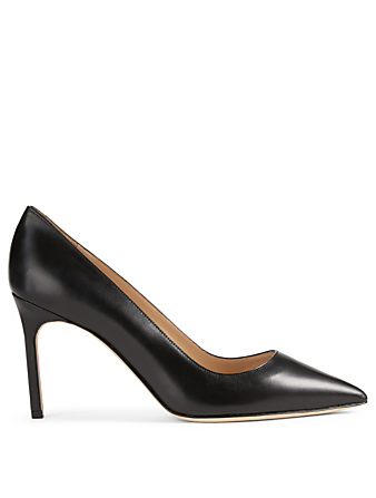 MANOLO BLAHNIK BB 90 Leather Pumps Womens Black