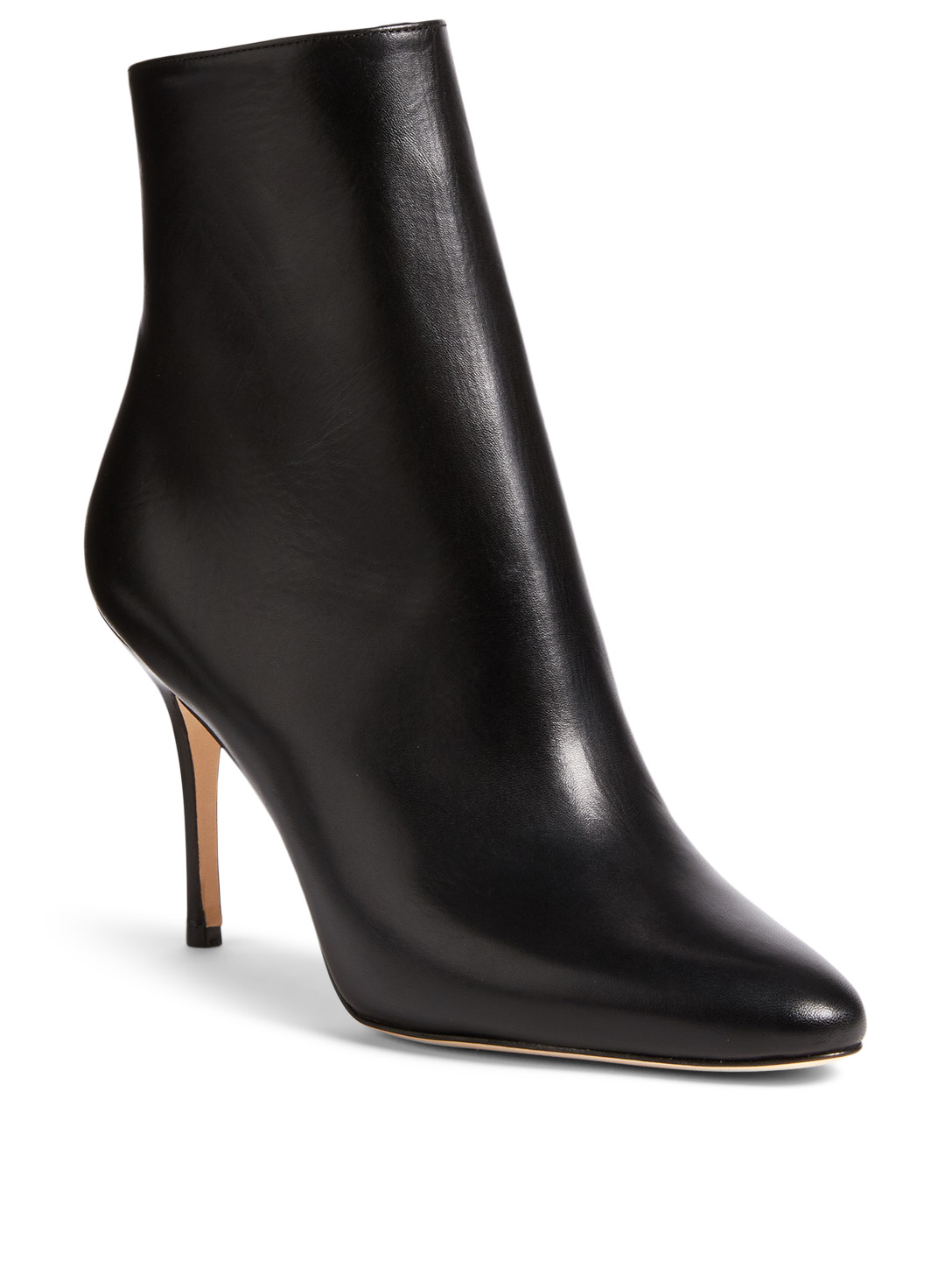 MANOLO BLAHNIK Insopo Leather Ankle Boots Womens Black