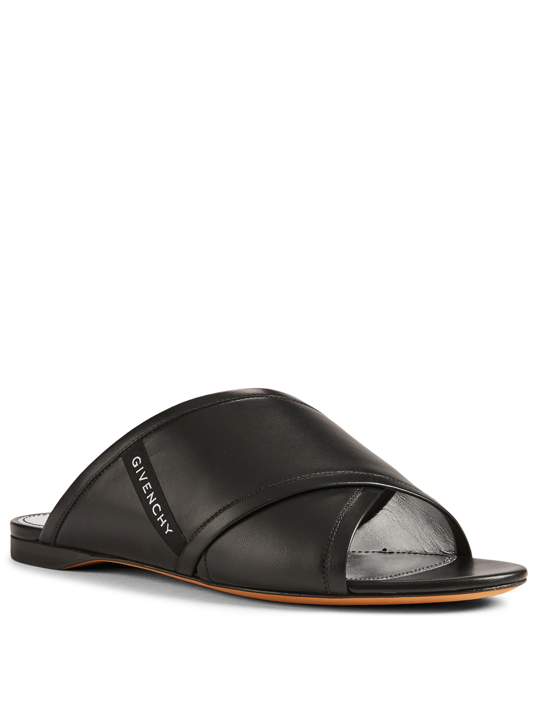 GIVENCHY Rivington Leather Slide Sandals Womens Black