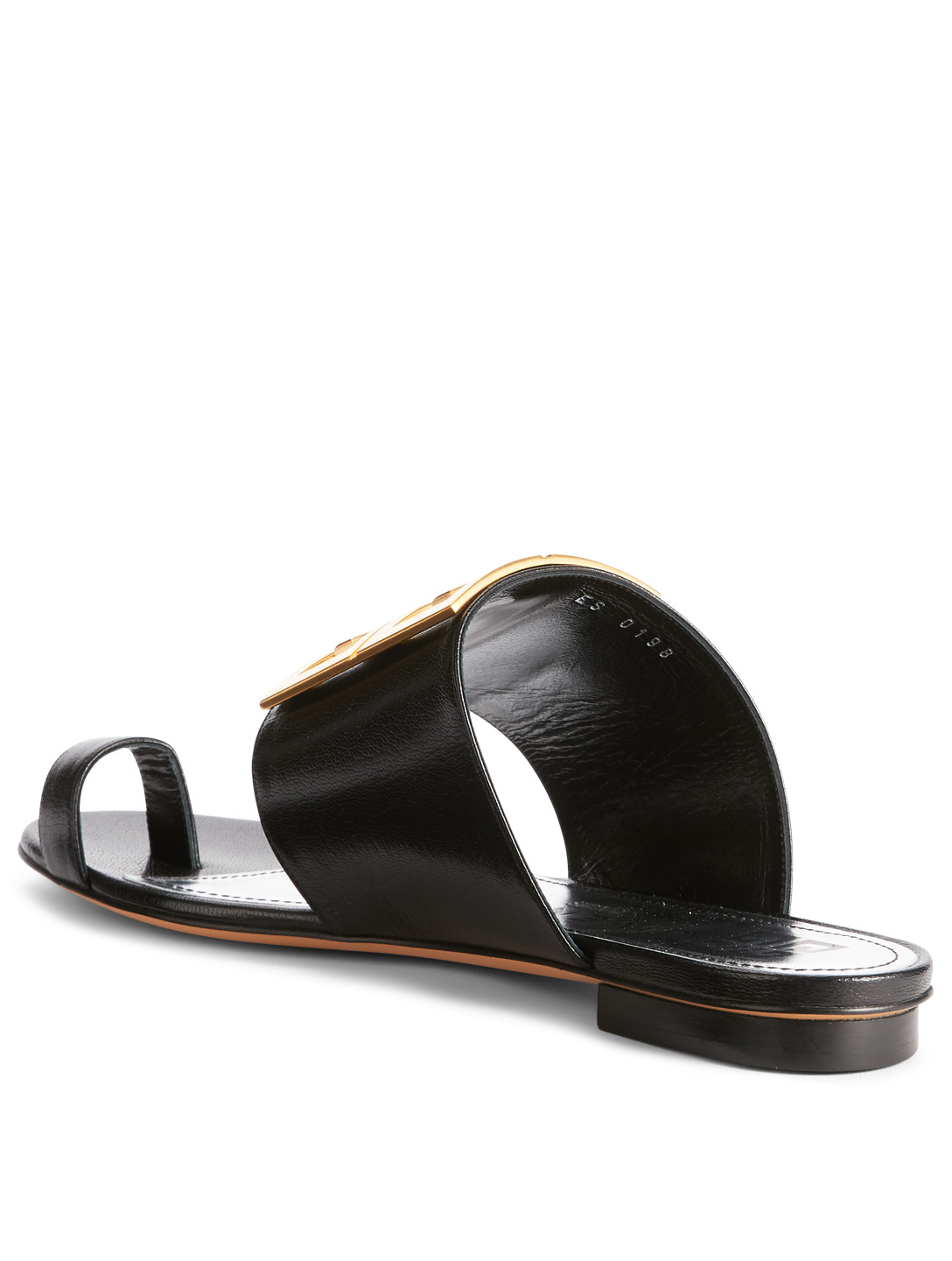 GIVENCHY 4G Leather Sandals Womens Black