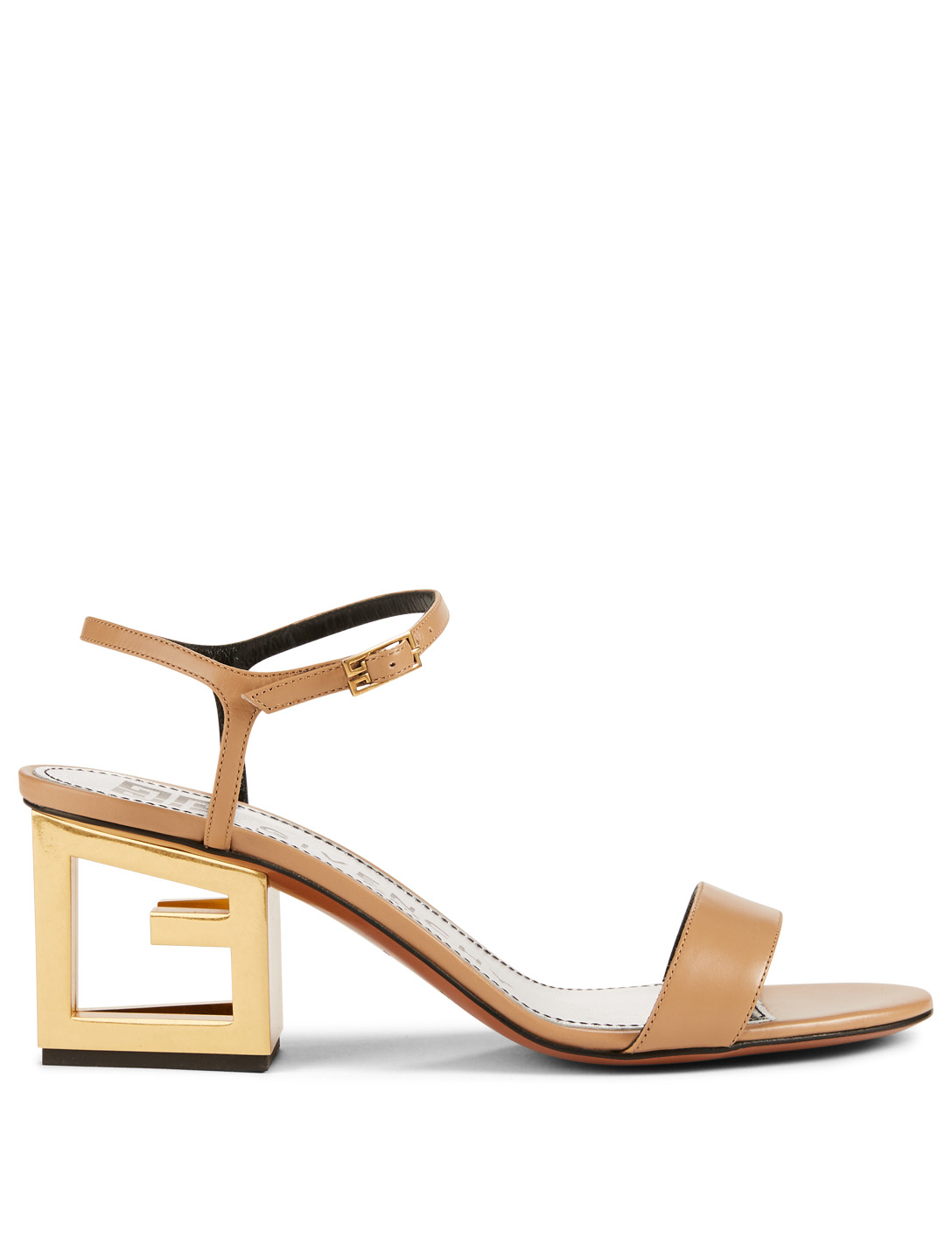 bb3754aa6a6c4 GIVENCHY Leather G Heeled Sandals Women's Neutral ...