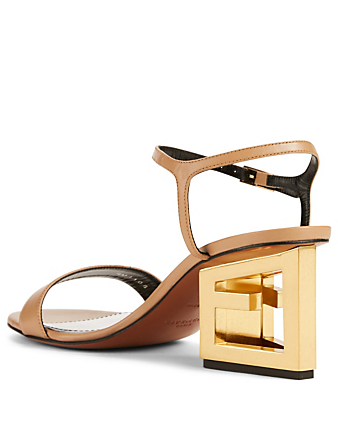 0293a162dc620 ... GIVENCHY Leather G Heeled Sandals Womens Neutral ...