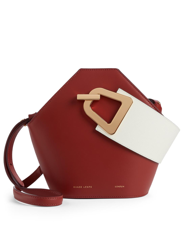 f728b219a064 DANSE LENTE Mini Johnny Leather Hexagonal Bucket Bag Women s ...