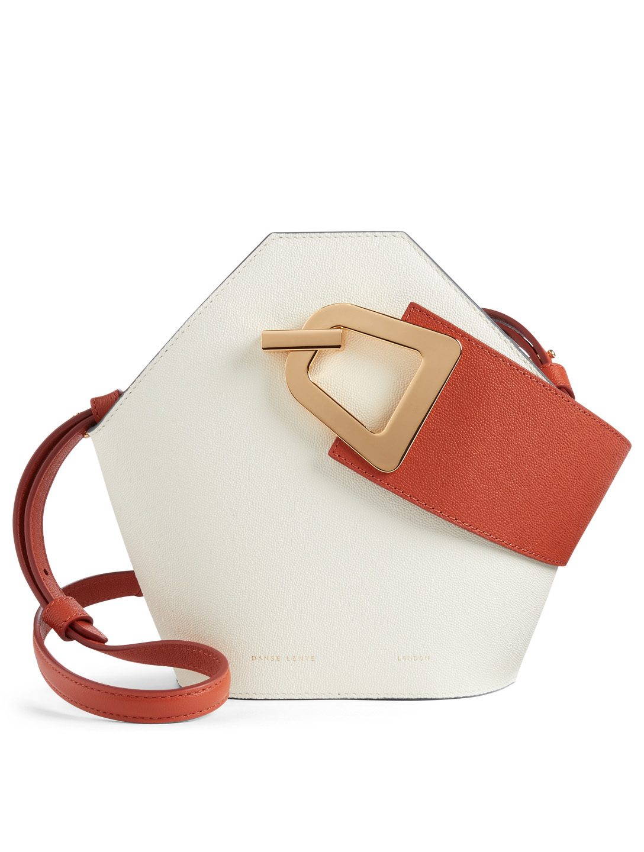 75fe0aa1b0 DANSE LENTE Mini Johnny Leather Hexagonal Bucket Bag