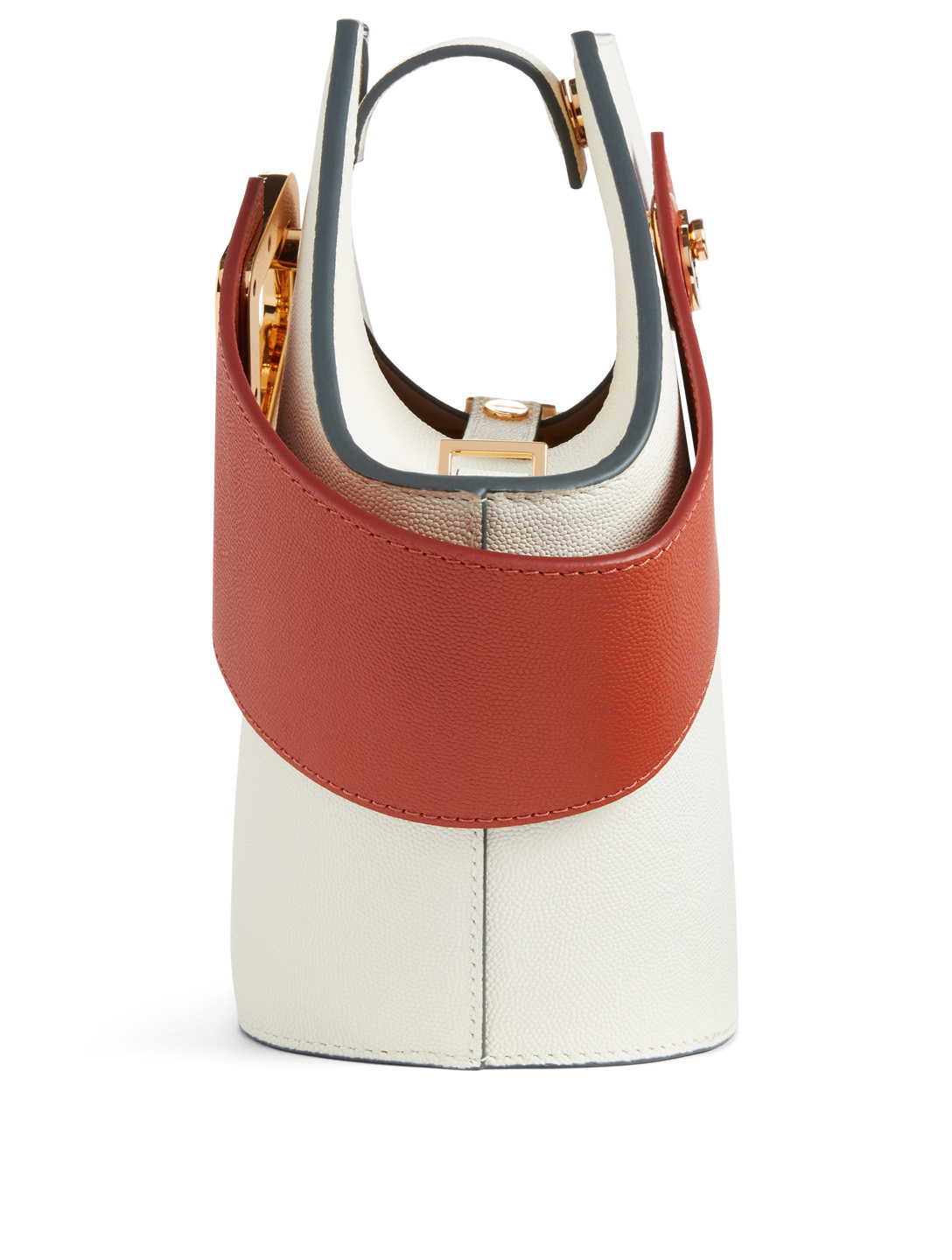 DANSE LENTE Mini Johnny Leather Hexagonal Bucket Bag Womens Neutral