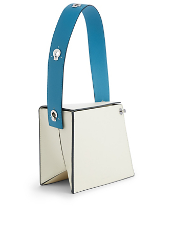 DANSE LENTE Zoe Leather Shoulder Bag Womens Blue