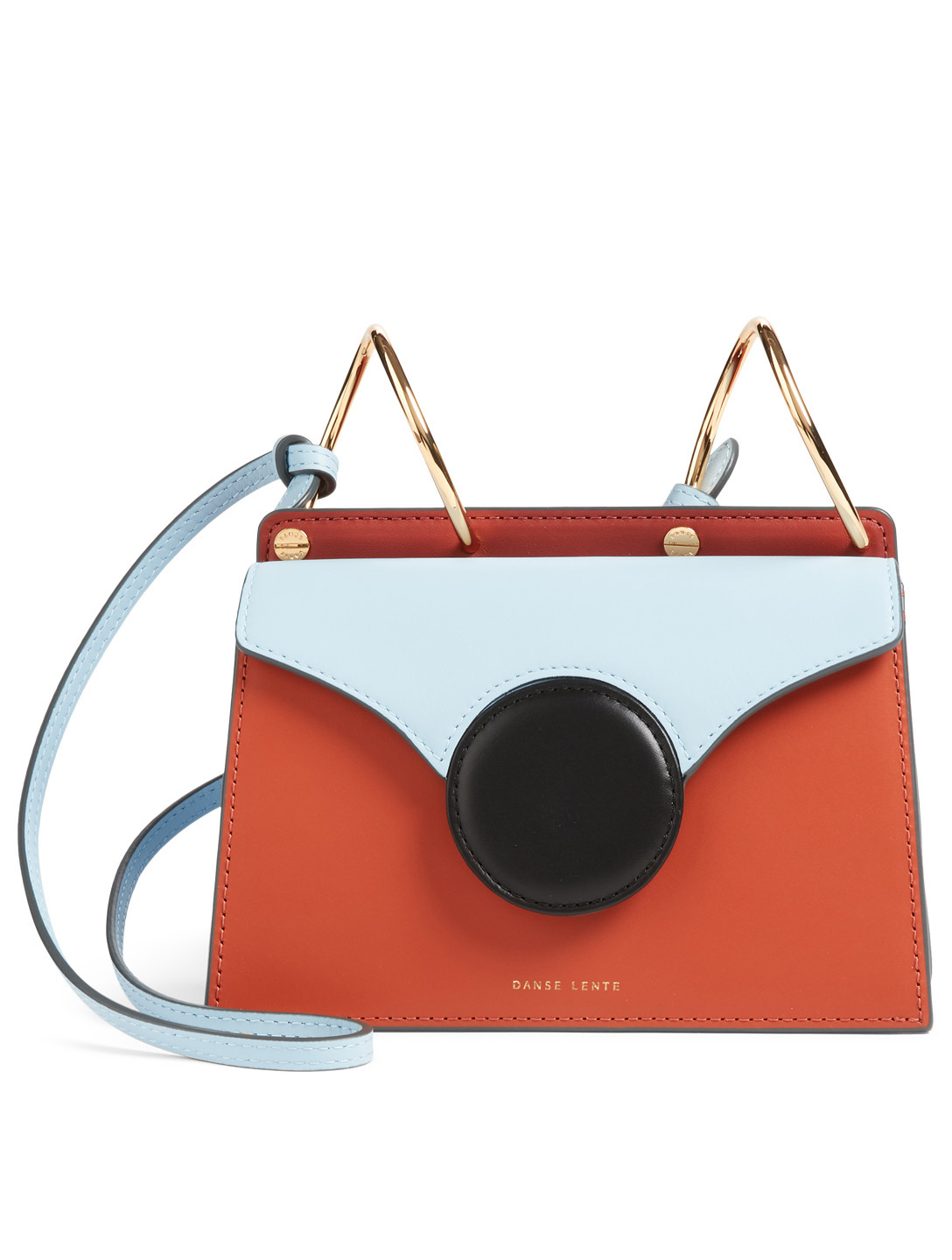 DANSE LENTE Mini Phoebe Leather Crossbody Bag Womens Orange