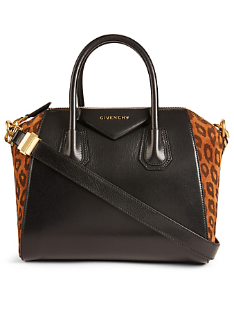 16f860971aa4 GIVENCHY Small Antigona Leather And Suede Bag With Leopard Print Women's  Multi ...