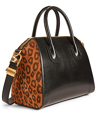 119e60936095 ... GIVENCHY Small Antigona Leather And Suede Bag With Leopard Print  Women's Multi ...