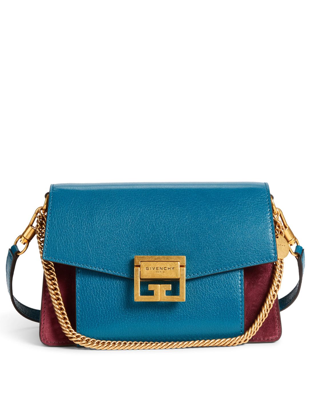 GIVENCHY Small GV3 Leather And Suede Bag Women's Multi