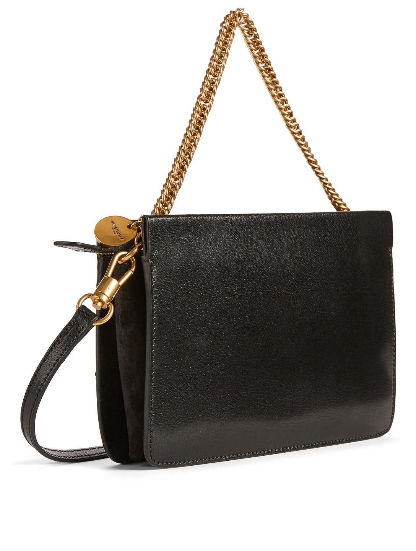 63272c8855 ... GIVENCHY Cross 3 Leather Crossbody Bag With Studded Fringe Women s  Black ...