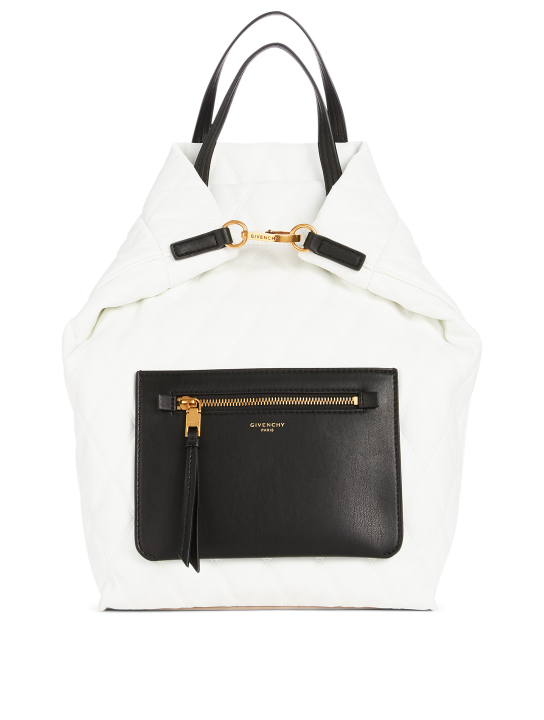 GIVENCHY Small Duo Quilted Backpack Designers White