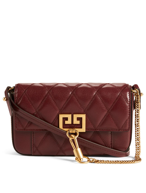 b1da8608c1b GIVENCHY Mini Pouch Pocket Leather Bag Designers Purple ...
