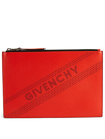 GIVENCHY Medium Emblem Leather Pouch Women s Red ... 15590a6f1ed36