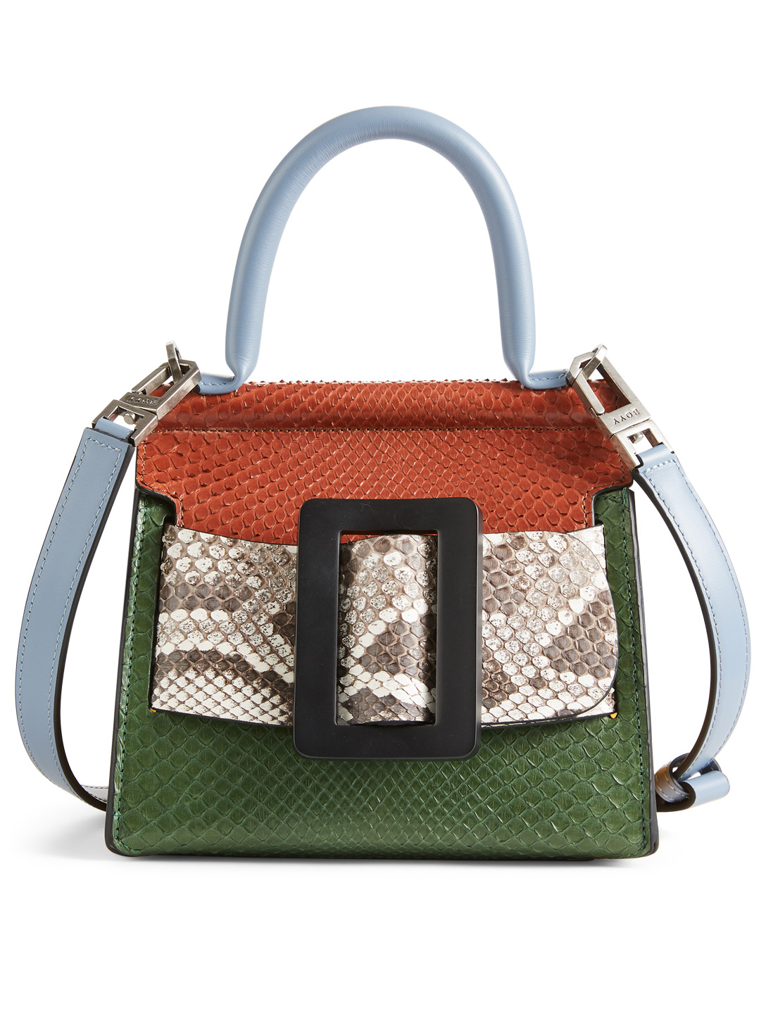 91f51ccf24af BOYY Karl 19 Leather And Python Top Handle Bag Collections Multi ...