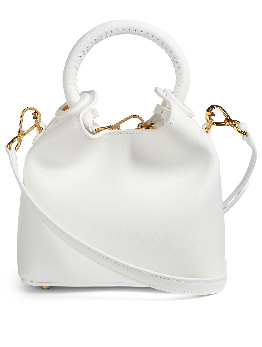 ELLEME Small Madeleine Leather Bag Womens White
