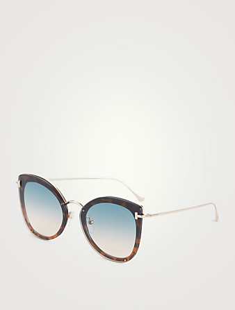 TOM FORD Charlotte Square Sunglasses Women's Blue