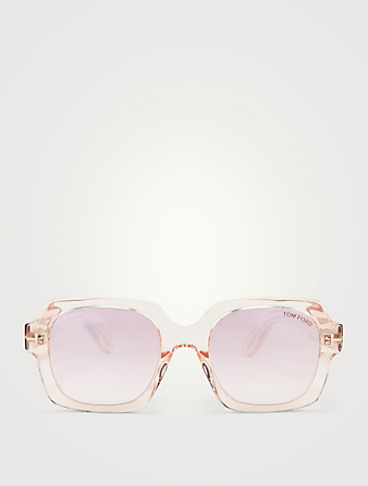 TOM FORD Autumn Square Sunglasses Womens Pink