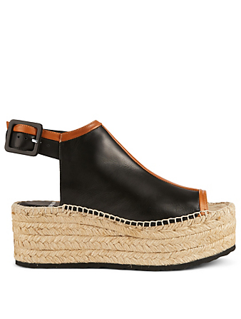 PIERRE HARDY Alpha Espadrille Platform Sandals Womens Black