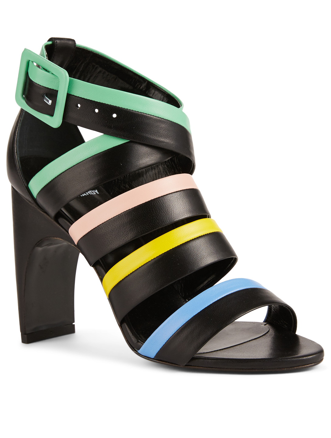 PIERRE HARDY Alpha Leather Heeled Sandals Womens Black