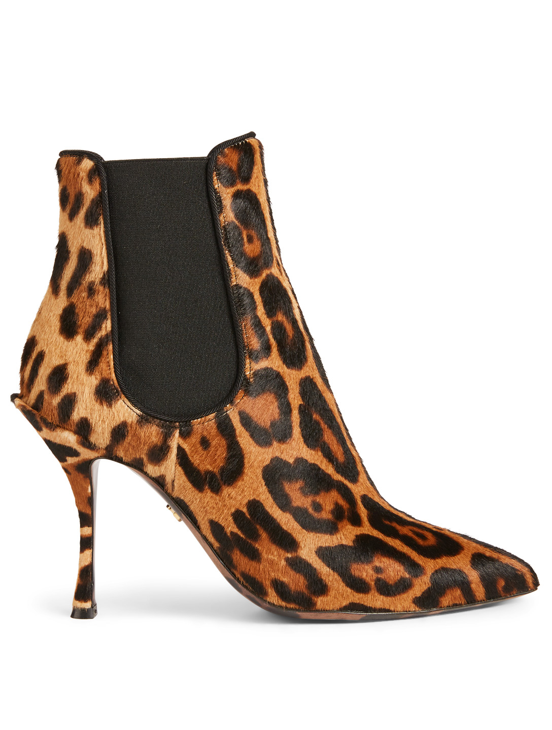 DOLCE & GABBANA Lori Calf Hair Ankle Boots In Leopard Print Womens Brown