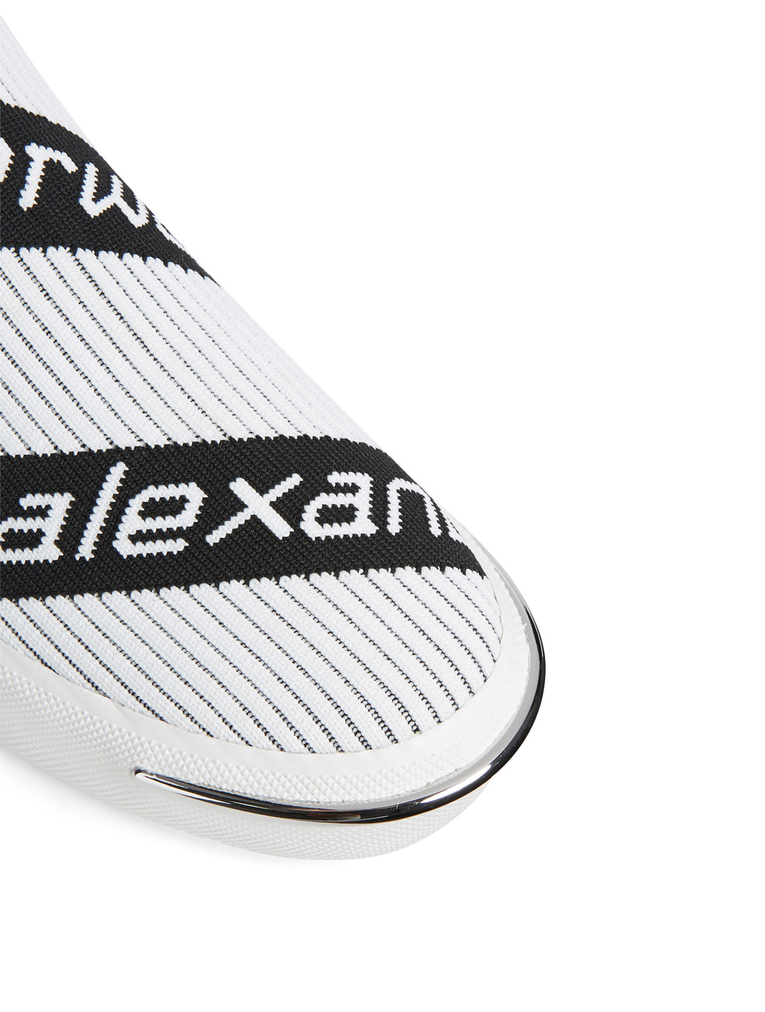 ALEXANDER WANG Pia Knit Logo High-Top Sneakers Women's White