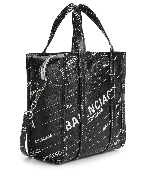 3a86eb00c BALENCIAGA XXS Bazar Leather Logo Shopper Bag | Holt Renfrew