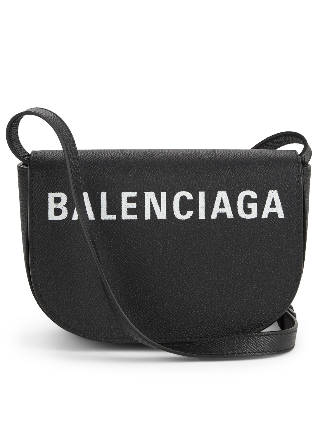 BALENCIAGA Extra Small Ville Day Leather Crossbody Bag With Logo ... 924f10b7f3892