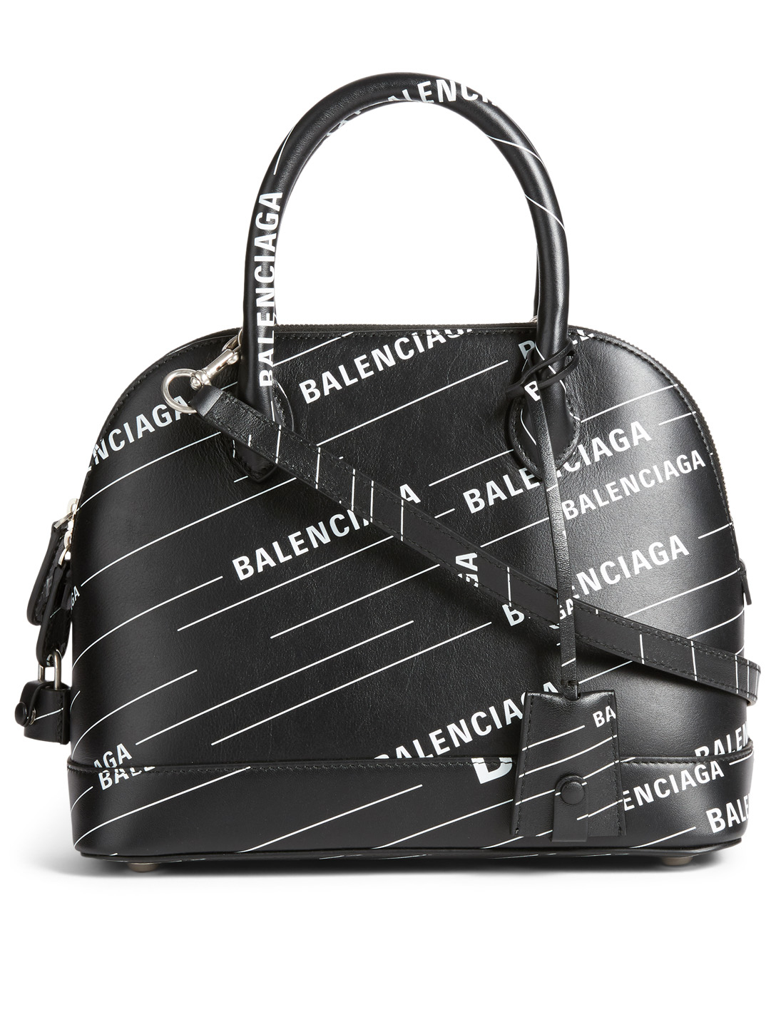 b3827d79ae16 BALENCIAGA Small Ville Leather Top Handle Bag With Logo Designers Black ...