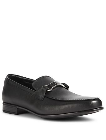 PRADA Saffiano Leather Loafers Designers Black