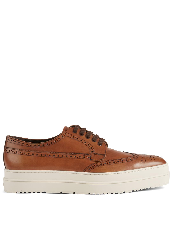 2173795c4e PRADA Leather Platform Derby Shoes