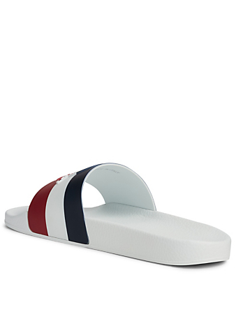 MONCLER Basile Slide Sandals Men's White