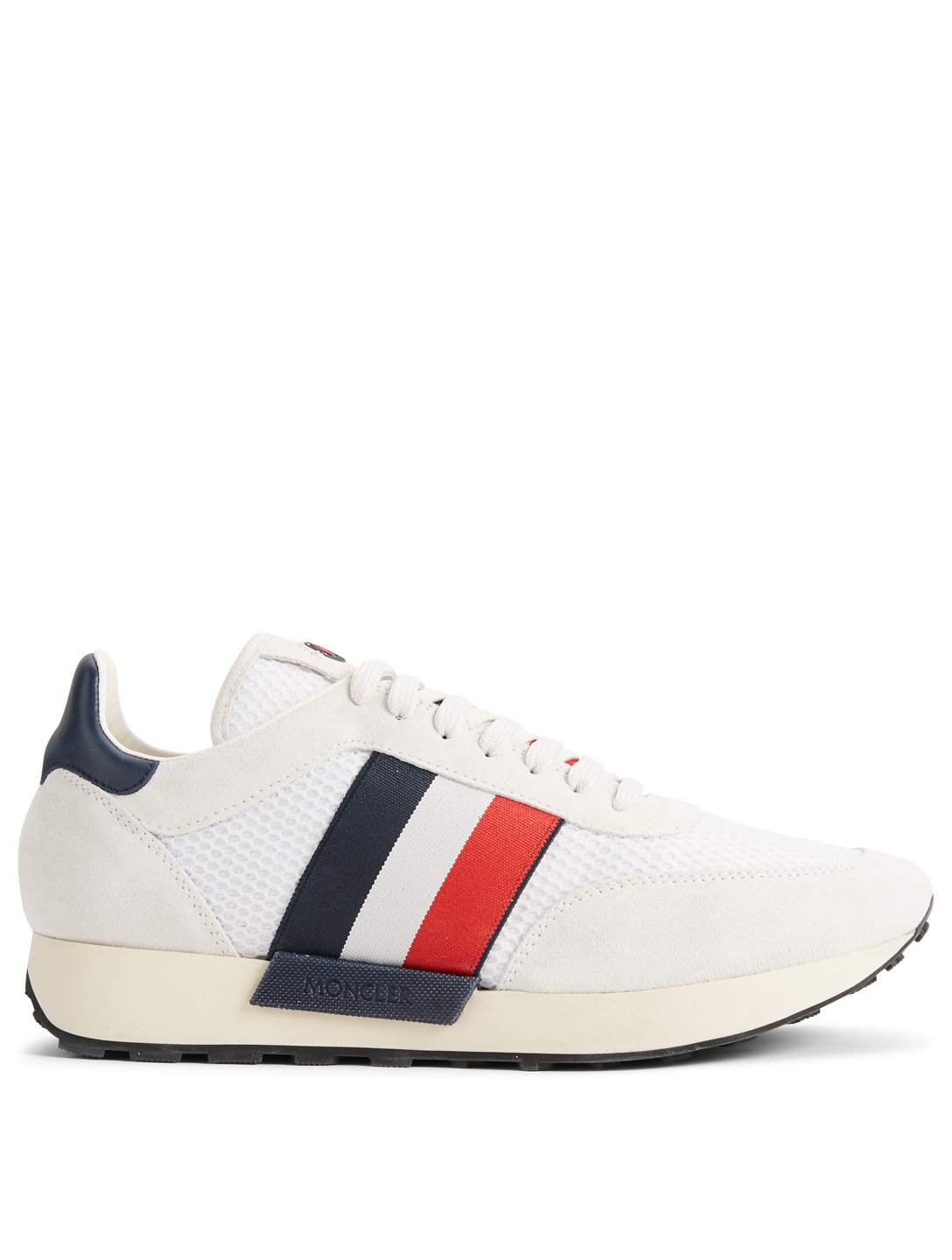 MONCLER Horace Suede and Mesh Sneakers Men's White