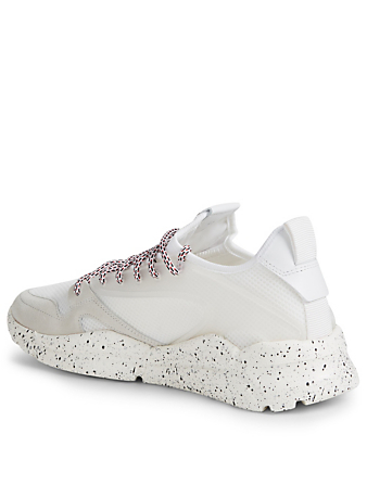 MONCLER Anakin Suede And Mesh Sneakers Men's White