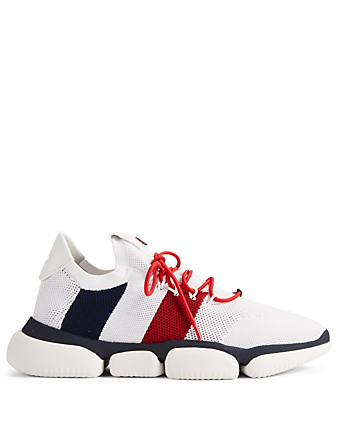MONCLER Bubble Knit Sock Sneakers Men's White