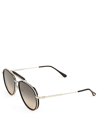 TOM FORD Tripp Aviator Sunglasses Men's Black